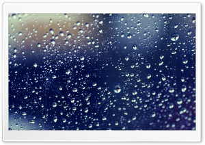 Drops On Glass HD Wide Wallpaper for Widescreen