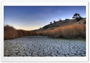 Dry Lake HD Wide Wallpaper for Widescreen