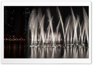 Dubai Fountain Show HD Wide Wallpaper for Widescreen