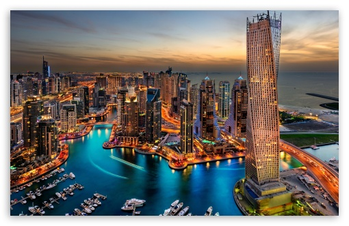 Download Dubai Marina, United Arab Emirates HD Wallpaper