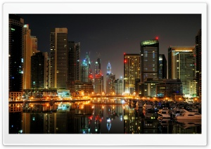 Dubai Port Yachts HD Wide Wallpaper for 4K UHD Widescreen desktop & smartphone