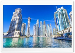 Dubai, United Arab Emirates, Skyscrapers HD Wide Wallpaper for 4K UHD Widescreen desktop & smartphone