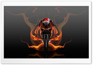 Ducati 1199 Fire Abstract Bike 2015 design by Tony Kokhan HD Wide Wallpaper for Widescreen