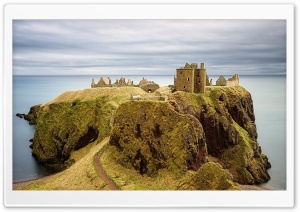 Dunnottar Castle, Stonehaven, Scotland HD Wide Wallpaper for 4K UHD Widescreen desktop & smartphone