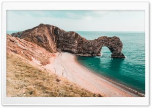 Durdle Door arch, Jurassic Coast, Dorset, England Ultra HD Wallpaper for 4K UHD Widescreen desktop, tablet & smartphone