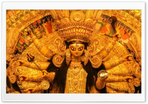 Durga Puja HD Wide Wallpaper for Widescreen