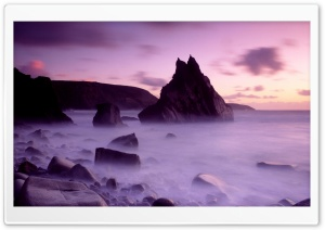 Dusk Cligga Point Cornwall England HD Wide Wallpaper for 4K UHD Widescreen desktop & smartphone