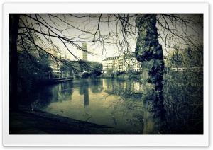 Dusseldorf Lake HD Wide Wallpaper for Widescreen