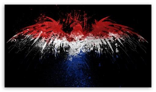 Dutch Flag with Eagle UltraHD Wallpaper for 8K UHD TV 16:9 Ultra High Definition 2160p 1440p 1080p 900p 720p ; Mobile 16:9 - 2160p 1440p 1080p 900p 720p ;