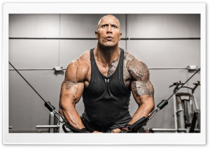 Dwayne Johnson Fitness Ultra HD Wallpaper for 4K UHD Widescreen desktop, tablet & smartphone
