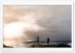 Early Morning Fishing HD Wide Wallpaper for 4K UHD Widescreen desktop & smartphone