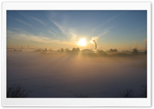 Early Morning Fog In Winter HD Wide Wallpaper for Widescreen