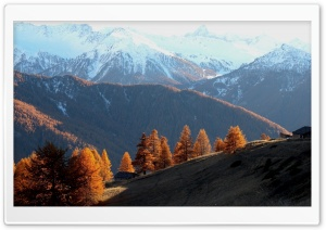 Early Winter Landscape HD Wide Wallpaper for Widescreen