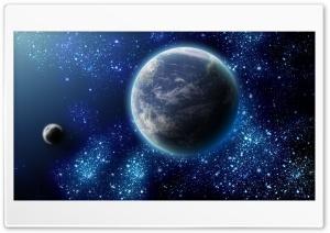 Earth and its Satellite - Zemlja i ee sputnik HD Wide Wallpaper for 4K UHD Widescreen desktop & smartphone