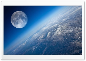 Earth And Moon HD Wide Wallpaper for Widescreen