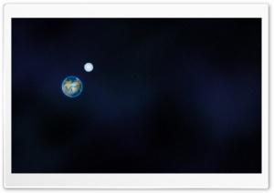 Earth And Moon Illustration Ultra HD Wallpaper for 4K UHD Widescreen desktop, tablet & smartphone