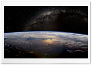 Earth Galaxy Space HD Wide Wallpaper for Widescreen