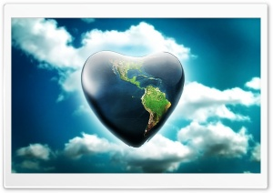 Earth Heart HD Wide Wallpaper for Widescreen