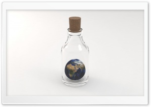 Earth in a Bottle HD Wide Wallpaper for 4K UHD Widescreen desktop & smartphone
