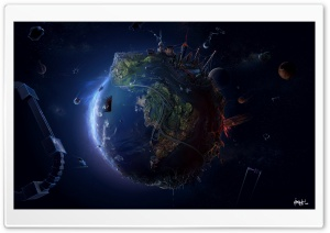 Earth In The Future Ultra HD Wallpaper for 4K UHD Widescreen desktop, tablet & smartphone