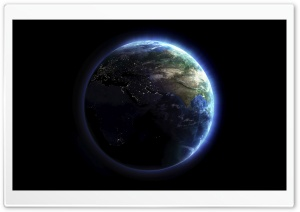 Earth Lights HD Wide Wallpaper for Widescreen