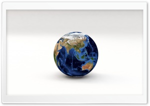 Earth Planet 3D Model Asia, Oceania HD Wide Wallpaper for Widescreen