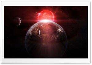Earth Red Sunrise From Space HD Wide Wallpaper for Widescreen