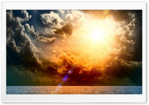 Earth Sunbeams HD Wide Wallpaper for Widescreen