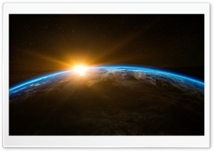 Earth Sunrise from Space Ultra HD Wallpaper for 4K UHD Widescreen desktop, tablet & smartphone
