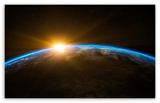 Earth Sunrise From Space Ultra Hd Desktop Background