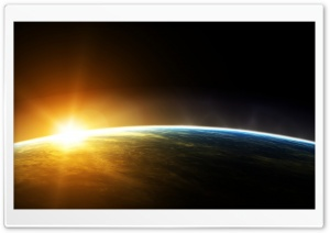 Earth Sunrise Space HD Wide Wallpaper for 4K UHD Widescreen desktop & smartphone