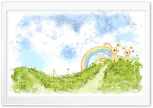 Easter Bunnies HD Wide Wallpaper for Widescreen
