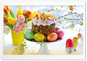 Easter Cake HD Wide Wallpaper for Widescreen