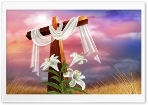 Easter Cross HD Wide Wallpaper for 4K UHD Widescreen desktop & smartphone