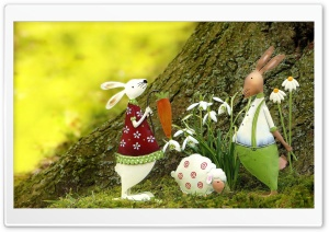 Easter Decoration Outdoor HD Wide Wallpaper for Widescreen