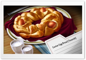 Easter Egg Bread HD Wide Wallpaper for 4K UHD Widescreen desktop & smartphone