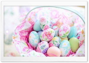 Easter Eggs Basket 2020 Ultra HD Wallpaper for 4K UHD Widescreen desktop, tablet & smartphone