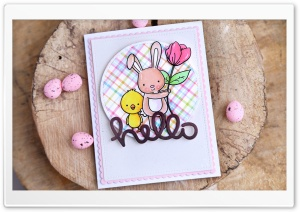 Easter Greeting Card HD Wide Wallpaper for Widescreen