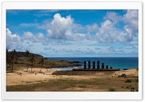 Easter Island Statues HD Wide Wallpaper for 4K UHD Widescreen desktop & smartphone