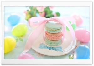 Easter Macarons HD Wide Wallpaper for 4K UHD Widescreen desktop & smartphone