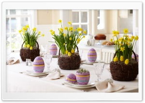 Easter Party Decoration HD Wide Wallpaper for Widescreen