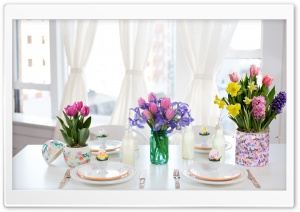 Easter Table Decorations HD Wide Wallpaper for Widescreen