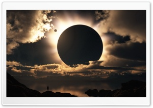 Eclipse HD Wide Wallpaper for 4K UHD Widescreen desktop & smartphone