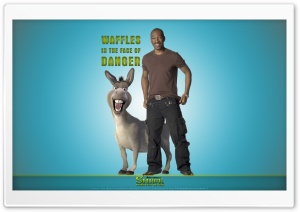 Eddie Murphy as Donkey, Shrek Forever After Ultra HD Wallpaper for 4K UHD Widescreen desktop, tablet & smartphone