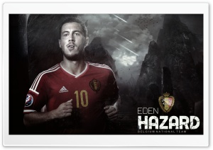 Eden Hazard Belgium HD Wide Wallpaper for Widescreen