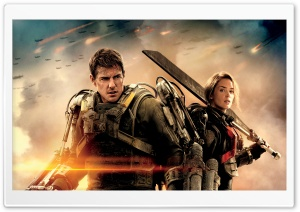 Edge Of Tomorrow Emily Blunt And Tom Cruise HD Wide Wallpaper for Widescreen