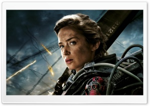Edge Of Tomorrow Emily Blunt as Rita Vrataski HD Wide Wallpaper for Widescreen