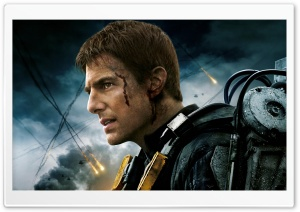 Edge Of Tomorrow Tom Cruise as William Cage HD Wide Wallpaper for Widescreen