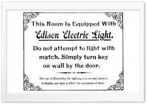 Edison Electric Light HD Wide Wallpaper for Widescreen