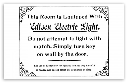 Edison Electric Light HD wallpaper for Wide 16:10 5:3 Widescreen WHXGA WQXGA WUXGA WXGA WGA ; Standard 4:3 5:4 3:2 Fullscreen UXGA XGA SVGA QSXGA SXGA DVGA HVGA HQVGA devices ( Apple PowerBook G4 iPhone 4 3G 3GS iPod Touch ) ; iPad 1/2/Mini ; Mobile 4:3 5:3 3:2 16:9 5:4 - UXGA XGA SVGA WGA DVGA HVGA HQVGA devices ( Apple PowerBook G4 iPhone 4 3G 3GS iPod Touch ) WQHD QWXGA 1080p 900p 720p QHD nHD QSXGA SXGA ;
